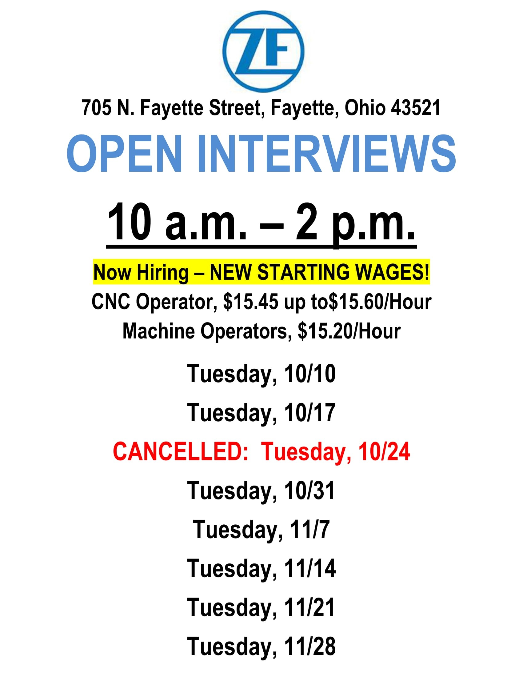 ZF TRW Open Interviews