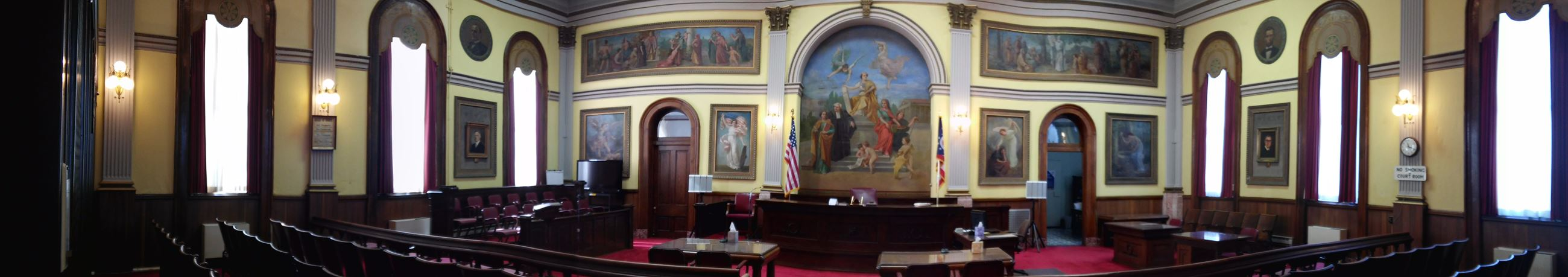 Panoramic View of Court room