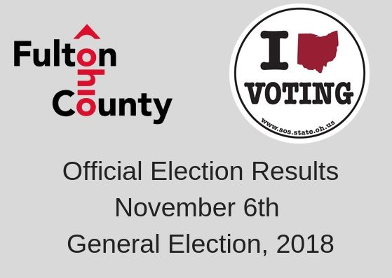 Official Election Results November 6th, 2018