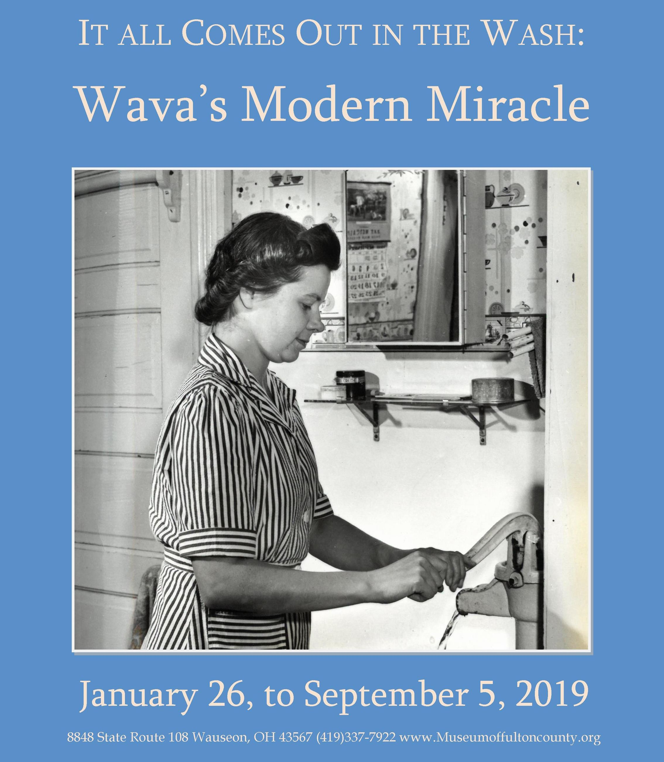 Wava's Modern Miracle, Museum of Fulton County.  New exhibit.