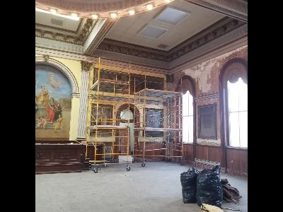 Scaffolding Going up in the Common Pleas Courtroom
