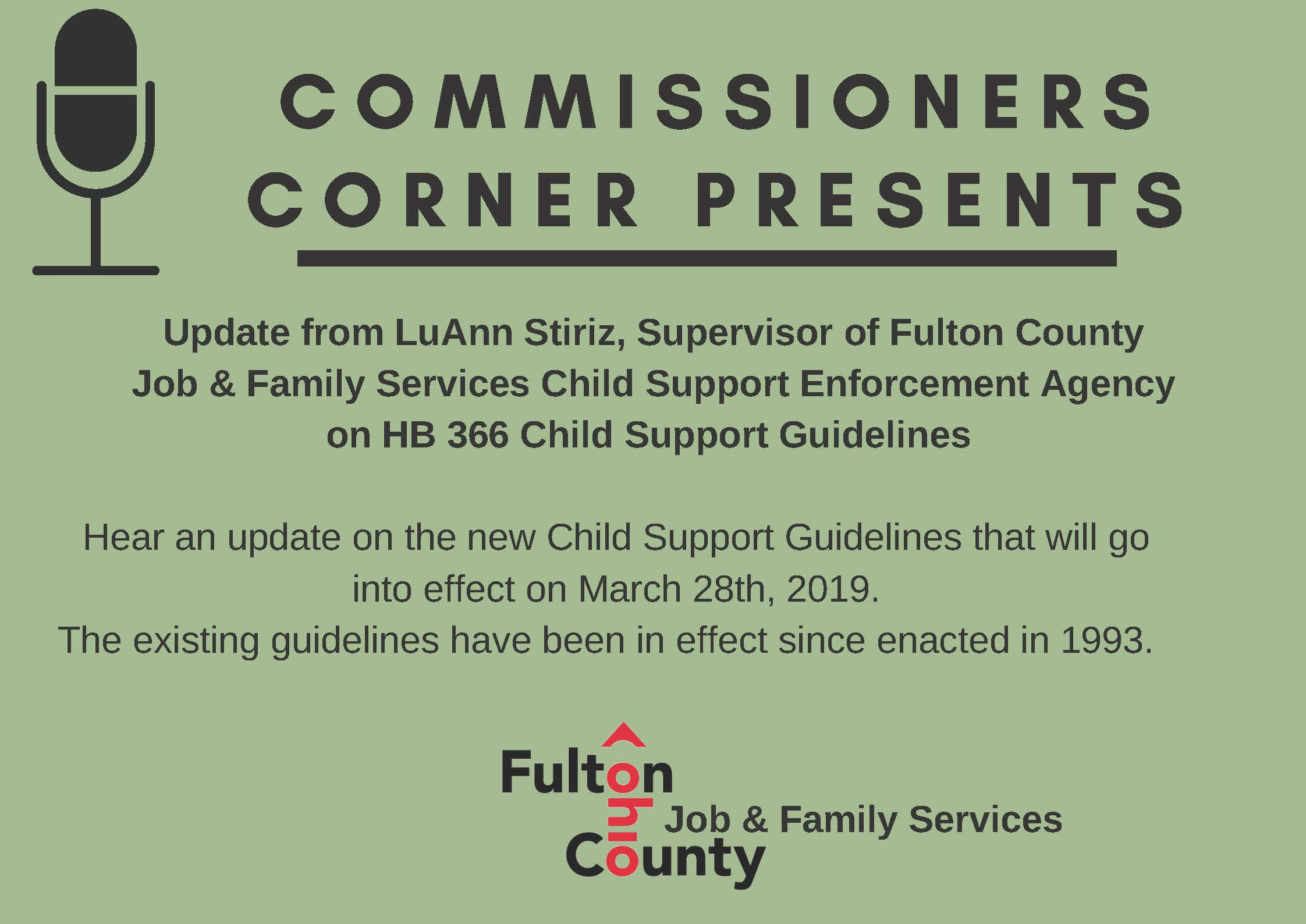 Update on new Child Support regulations from HB 366