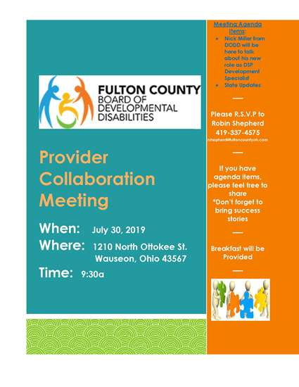 July_30_2019 Provider Collaboration Meeting