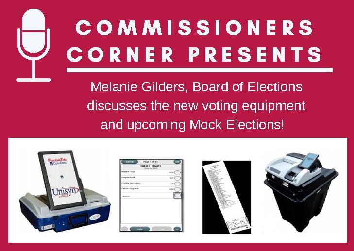 Commissioners Corner Interview with Board of Elections Website Image