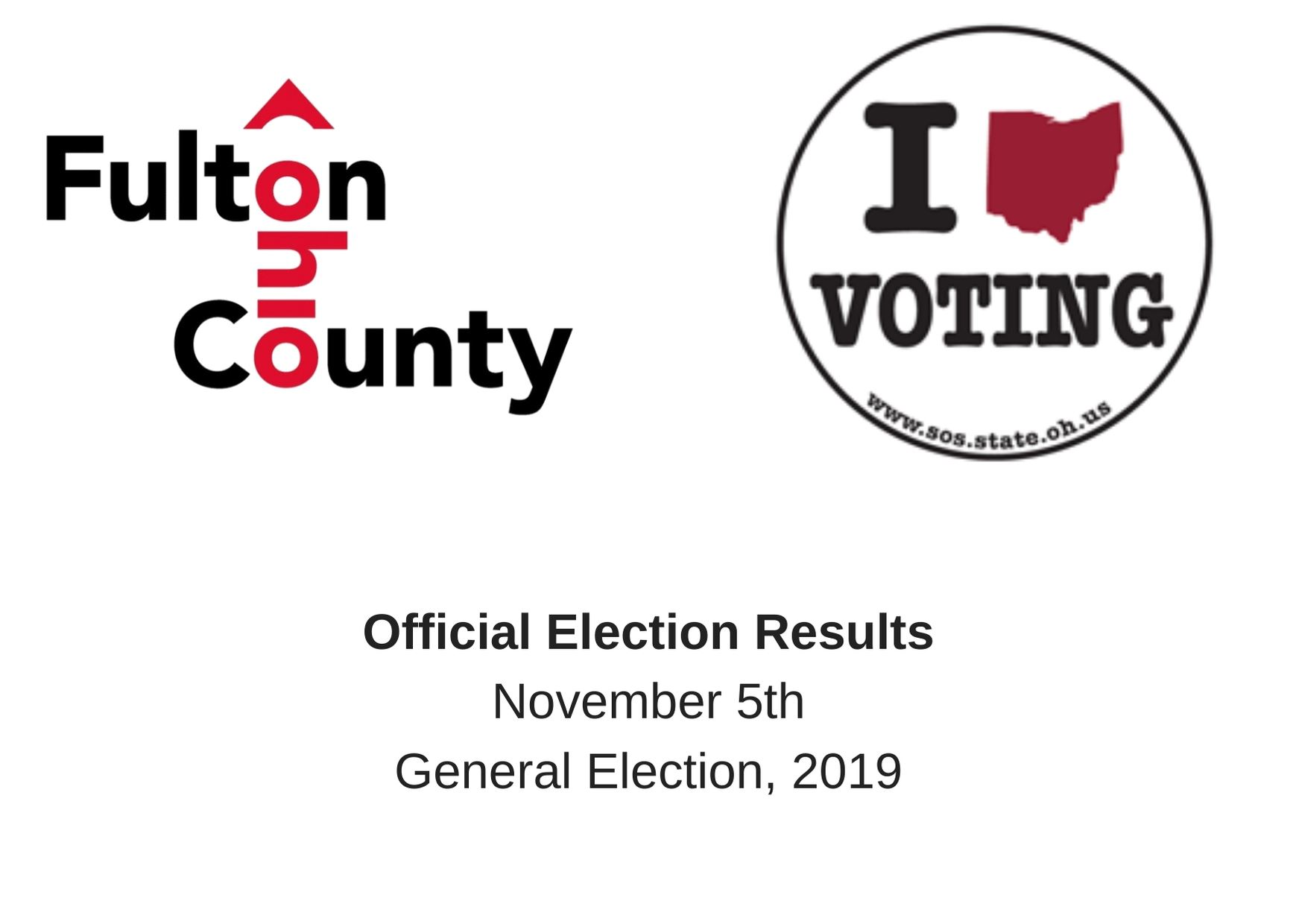 Official Election Results Nov 5 2019