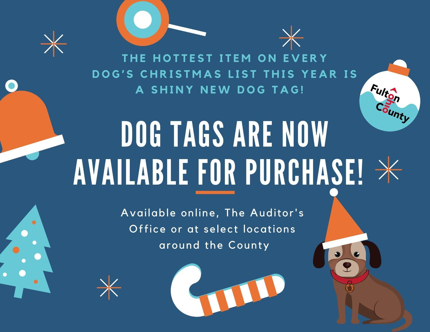 Dog tags are now available for purchase!