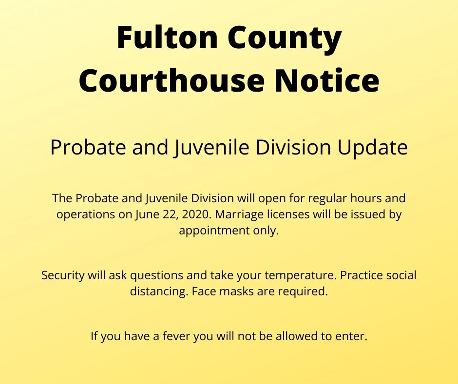 Fulton County Courthouse Notice Probate_Juvenile