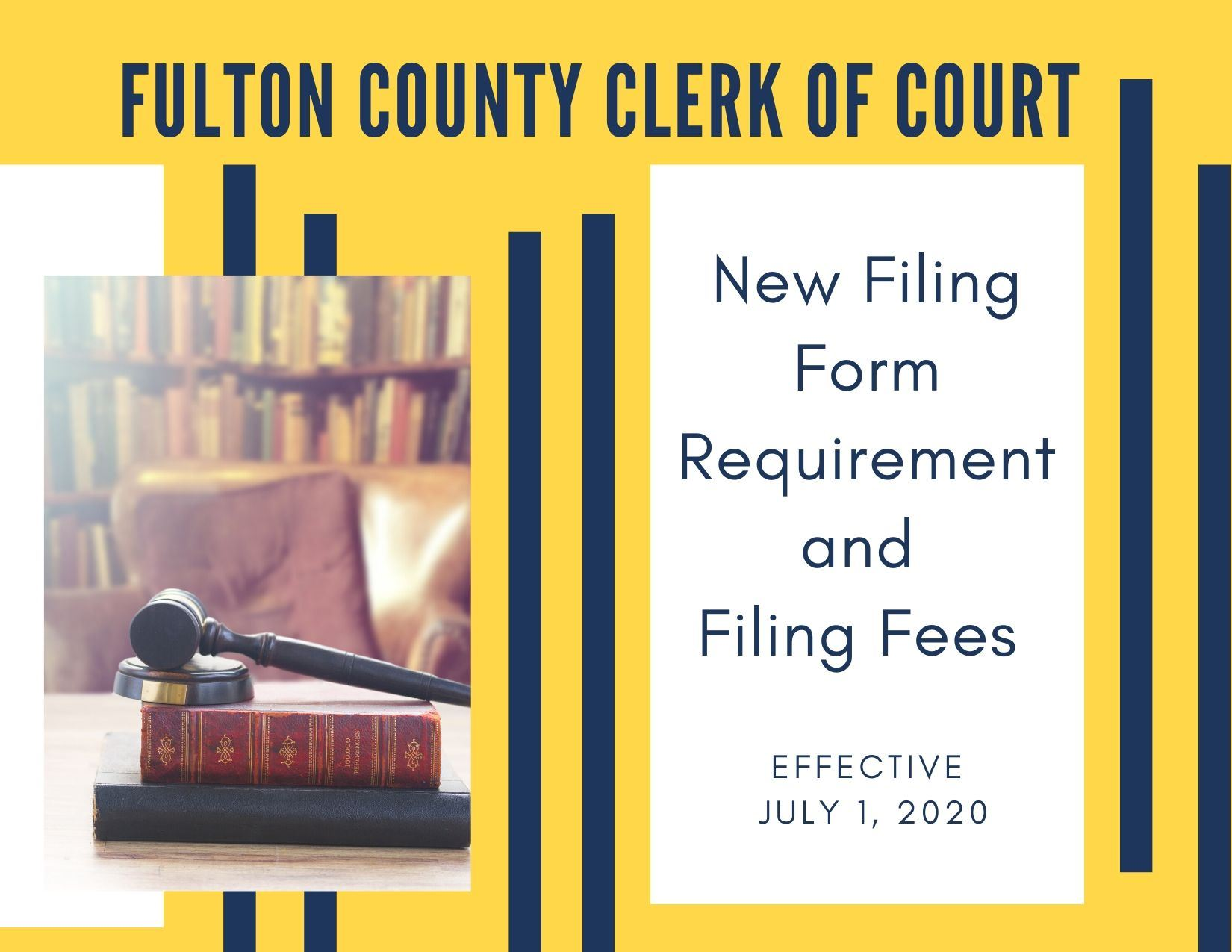 Fulton County Clerk of Court new form and filing fees