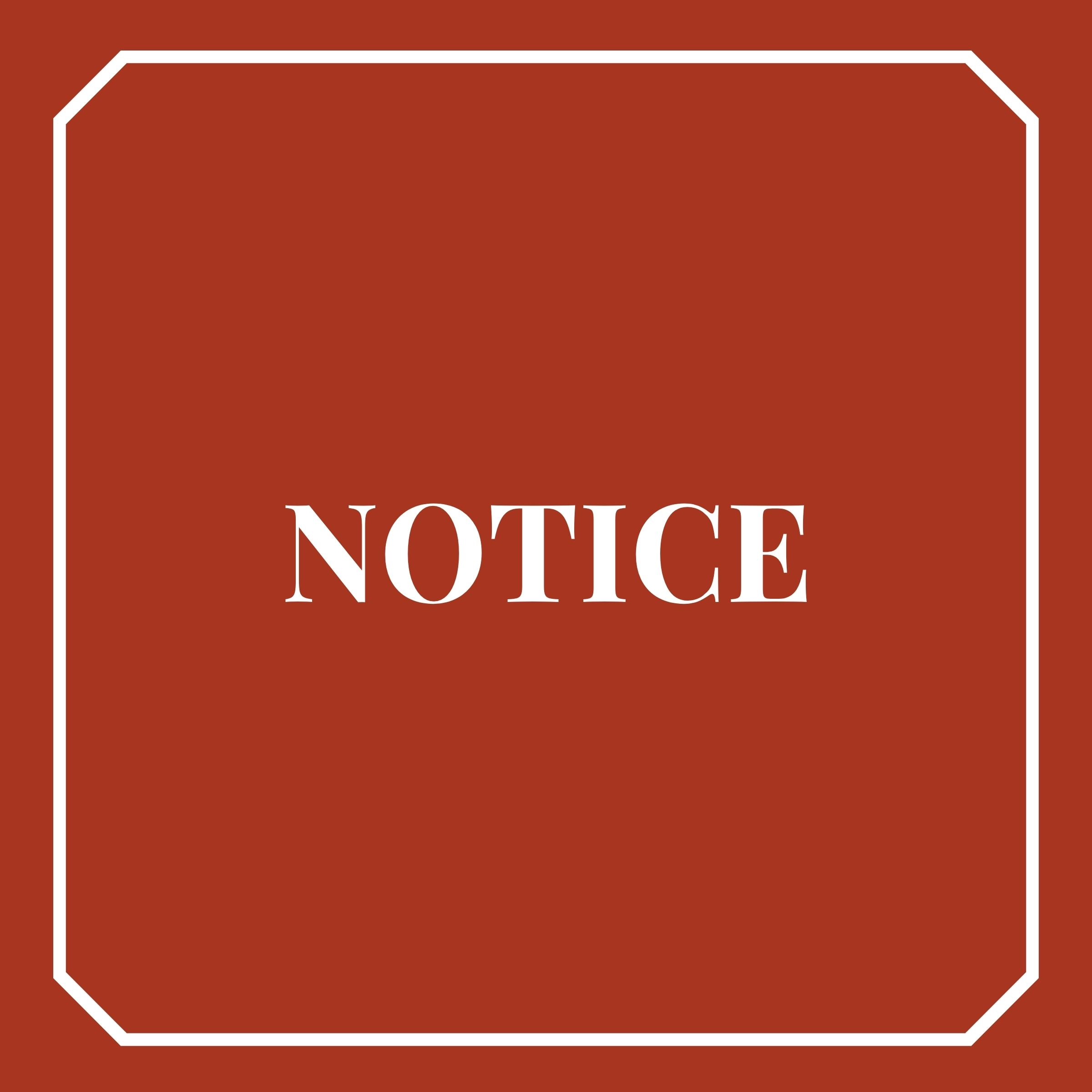 Appellate District Court Notice