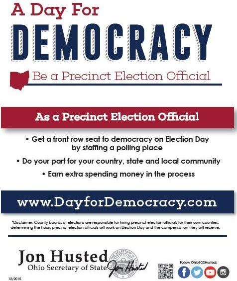 Precint Election Official Flyer