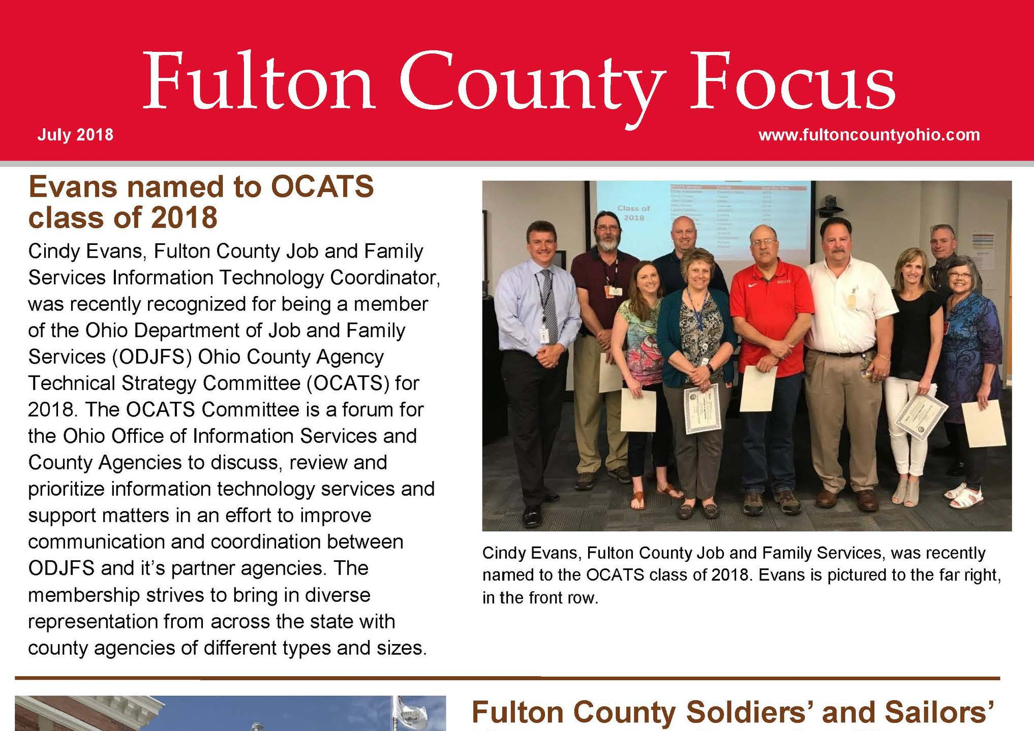 Fulton County Focus Crop July 2018 Edition