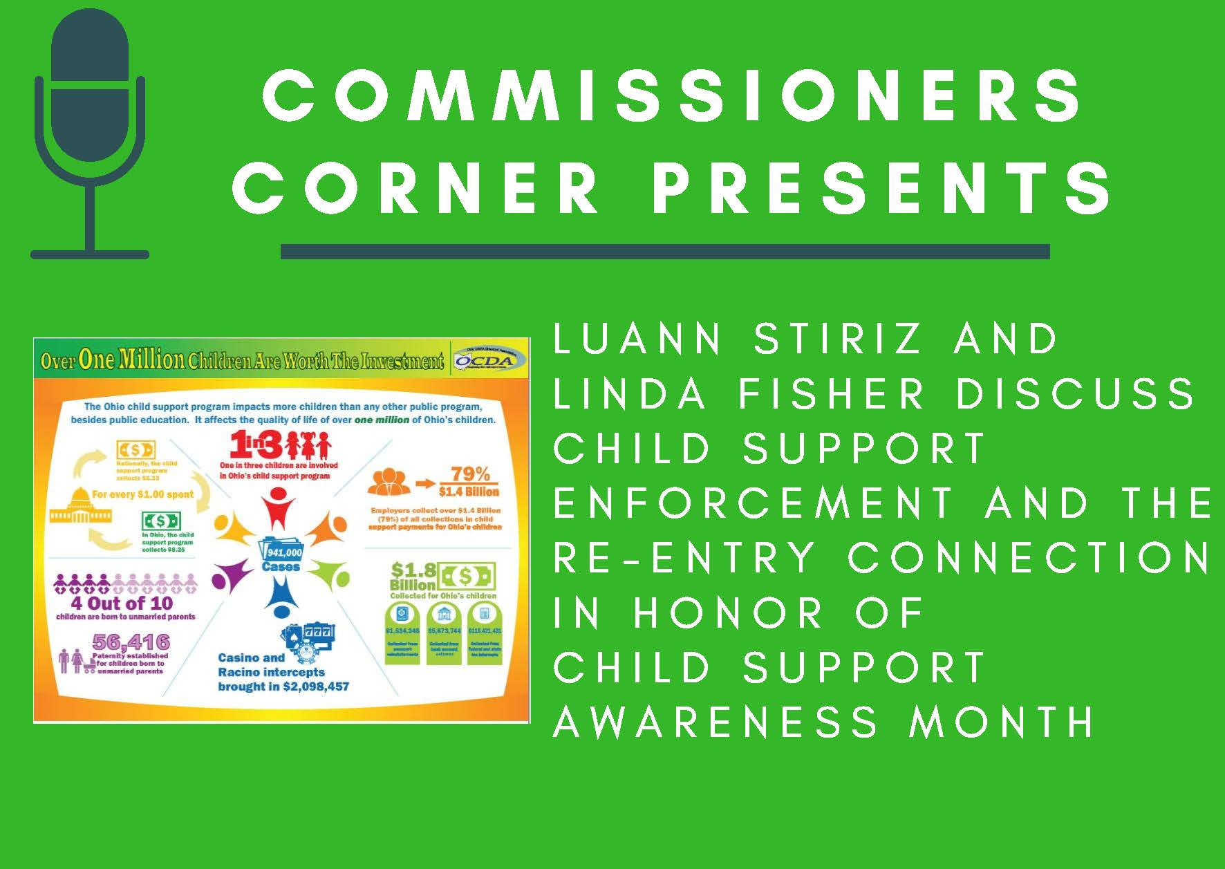 Child Support Enforcement Agency Commissioners Corner Flyer
