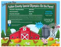 Fulton County Special Olympics On the Farm flyer