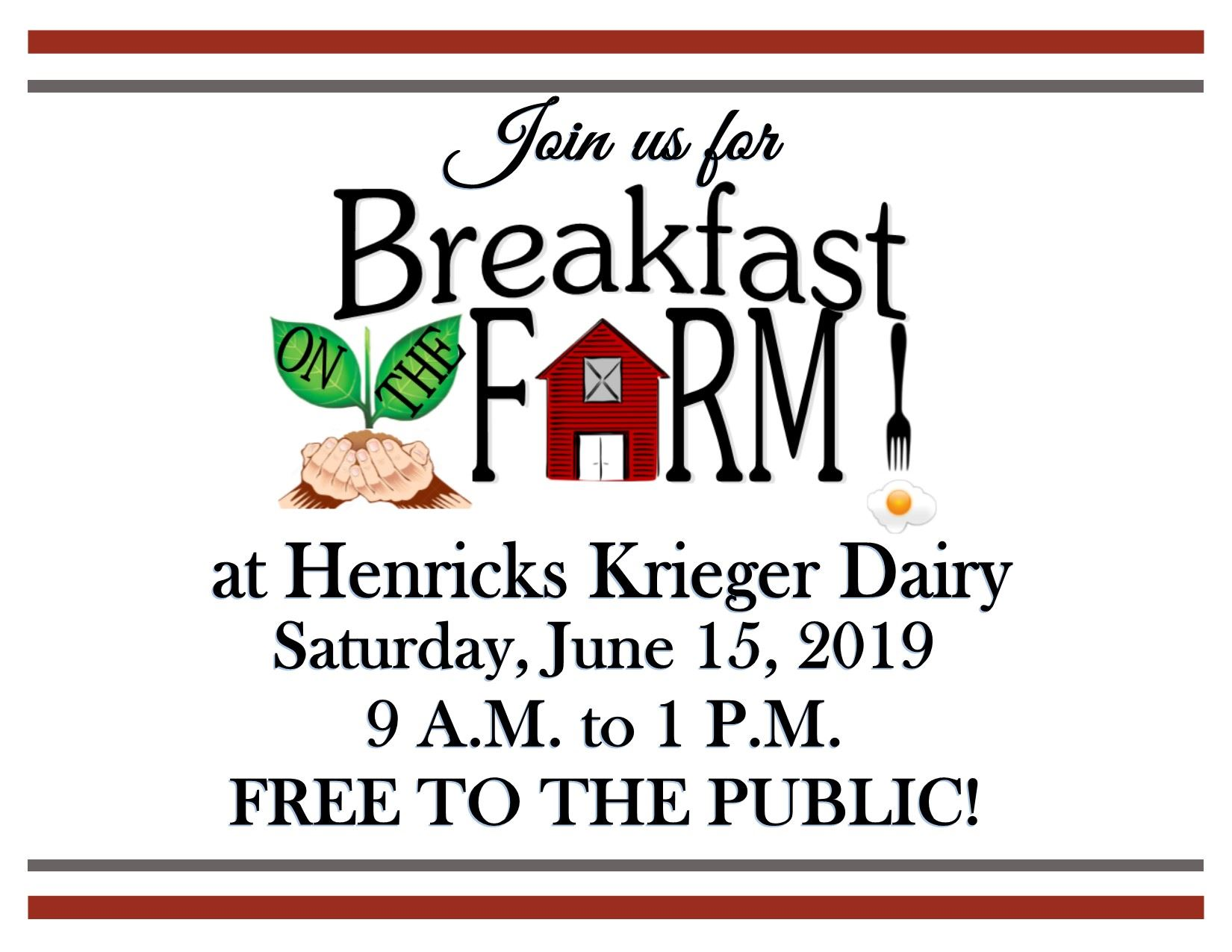 Breakfast on the Farm June 15, 2019