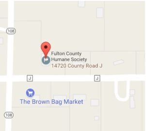 Location Map of the Fulton County Humane Society