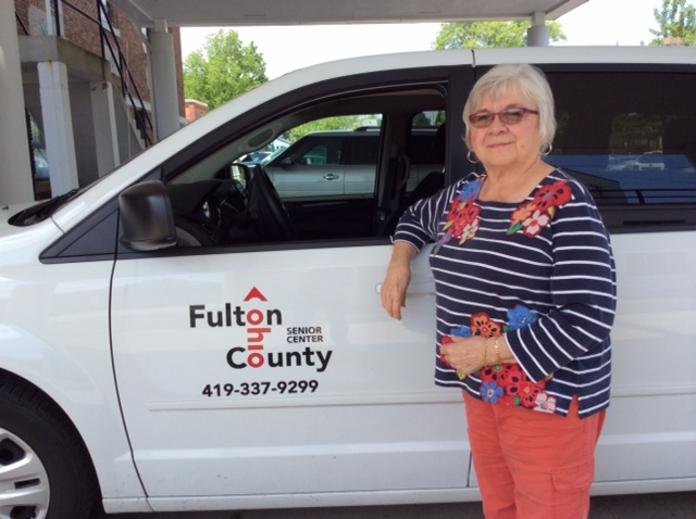 2015 photo Sally Lutz volunteer driver in July Bzz