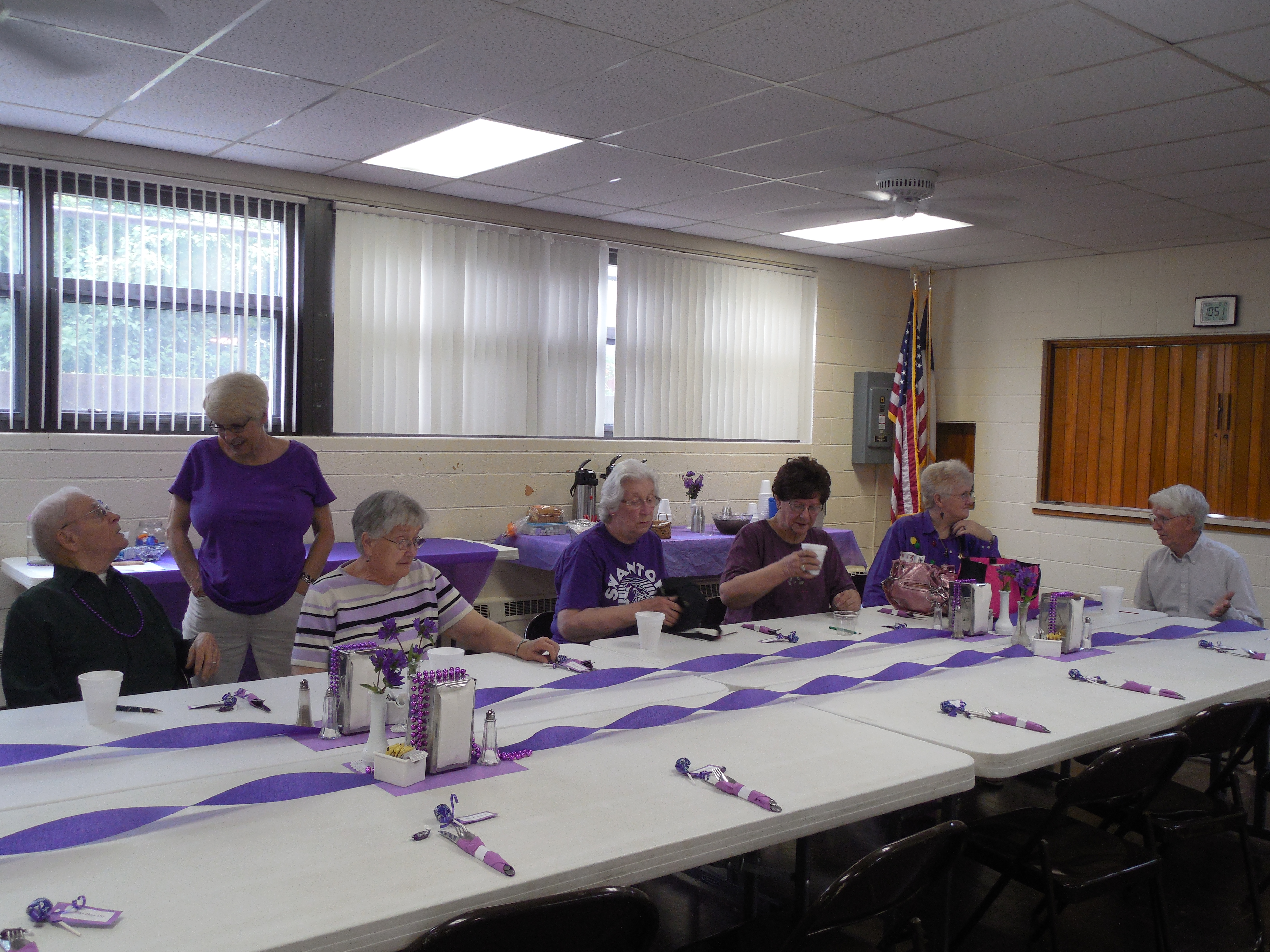 photo 2015 purple decorations for Elder Abuse Awar