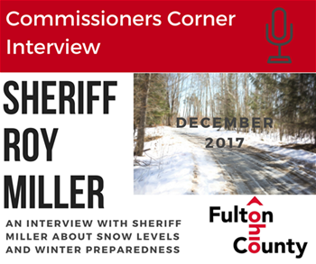 Commissioners Corner Image Sheriff Roy Miller discusses Snow Levels