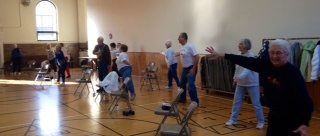 Photo of Seniors participating in a Gentle Movement Class